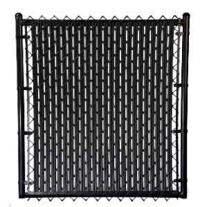 Slatted chain link fence